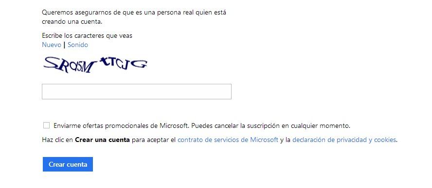 Crear Correo Outlook (Hotmail)