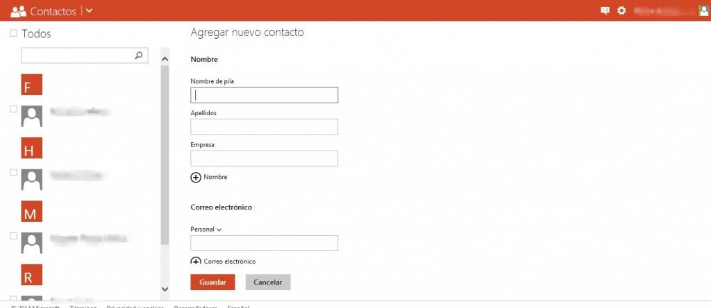 Cómo agregar contactos en Outlook (Hotmail)