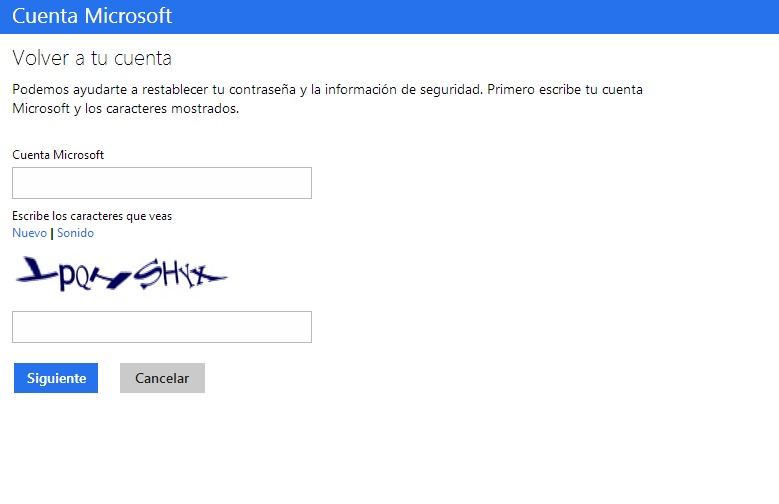 Cómo recuperar la contraseña de Outlook (Hotmail)