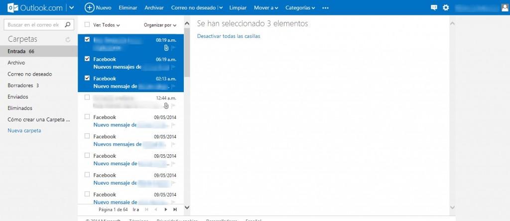 Cómo eliminar mensajes en Outlook (Hotmail)