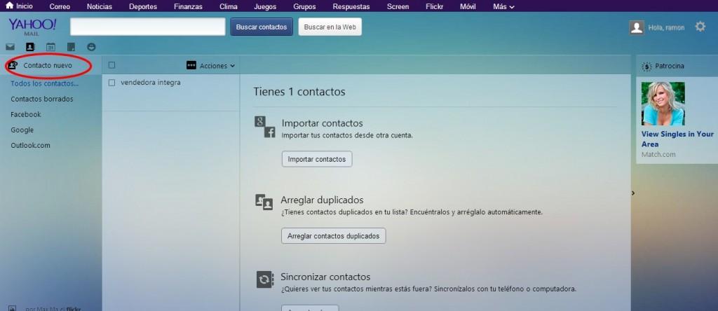 Cómo agregar contactos en Yahoo