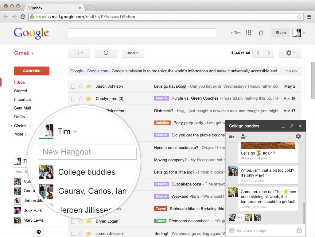 ¿Cómo usar el chat de Gmail y el Hangouts?