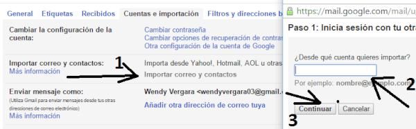 Importa tus correos y contactos de otras cuentas a tu Gmail