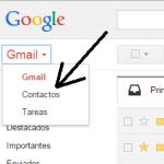 Recupera contactos borrados de Gmail