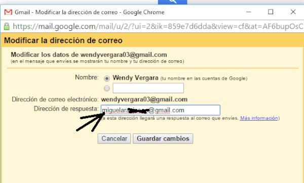 Haz que las respuestas de Gmail lleguen a otra dirección