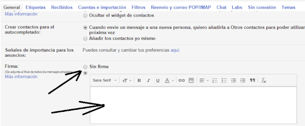 firma de gmail