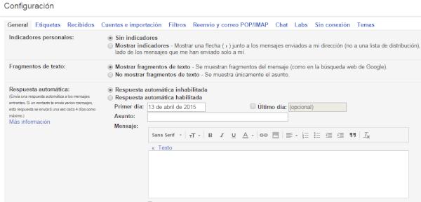respuesta automatica de gmail