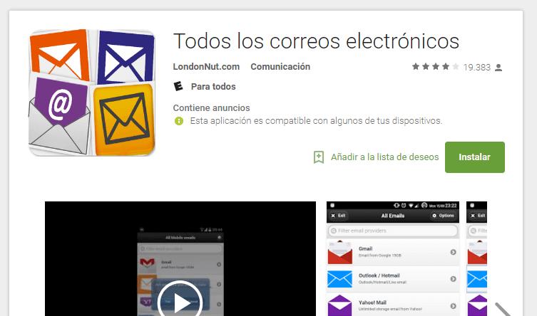 correos electronicos
