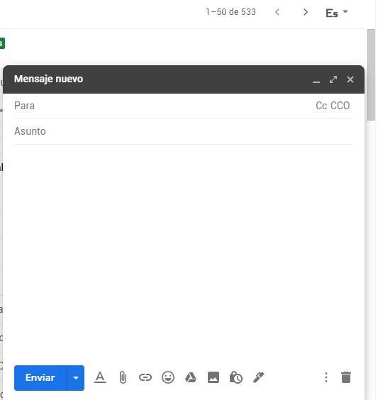 enviar imágenes y videos por correo