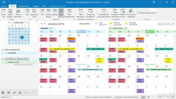 crear calendario compartido outlook