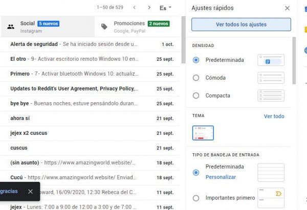 configurar gmail correo externo