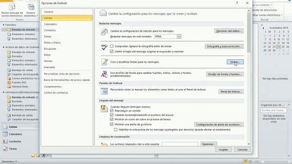 colocar firma en outlook