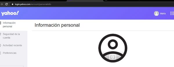 información personal yahoo