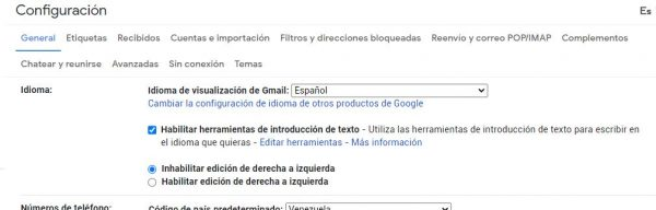 configurar gmail con un correo externo