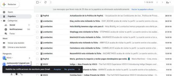 cómo recuperar un correo gmail borrado