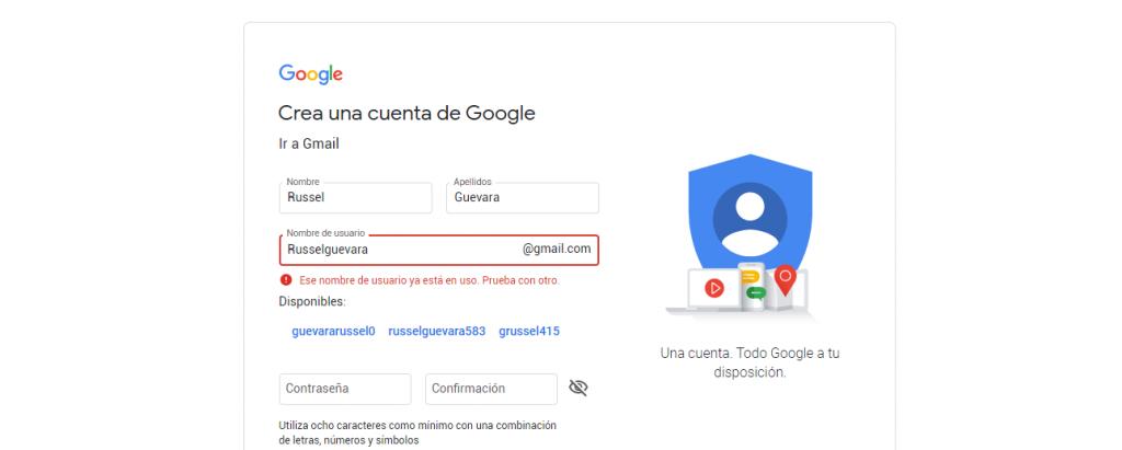 crear cuenta de gmail gratis
