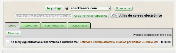 Correos Temporales Guerrilla mail
